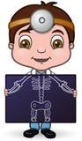 Docteur et rayon X Photographie stock libre de droits