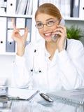 Docteur féminin dans la chirurgie Images libres de droits