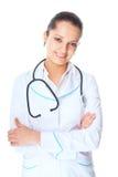 Docteur féminin de sourire de jeunes photos libres de droits