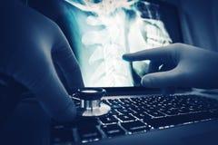 Docteur Imagery Examination image stock
