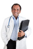 Docteur indien avec le dépliant image stock