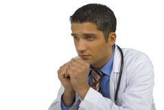 docteur inquiété Photos stock