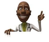 Docteur noir avec un signe blanc illustration stock