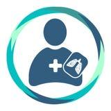 Docteur ou père saint avec les poumons malades roentgen illustration libre de droits