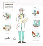 Docteur professionnel illustration libre de droits