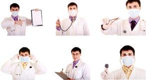 Docteur réglé de travail. Image libre de droits