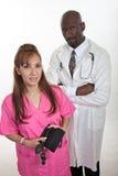 Docteur racial multi d'infirmière d'équipe de membres du personnel soignant Photo stock