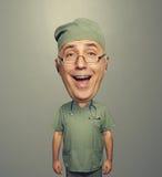 Docteur riant de crâneur dans l'uniforme Image libre de droits