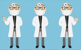 Docteur Set v1b de manteau de laboratoire Images libres de droits