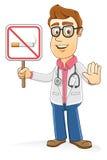 Docteur - signe non-fumeurs Images libres de droits