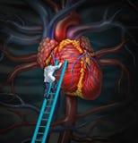 Docteur Therapy de coeur illustration de vecteur