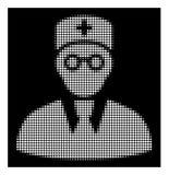 Docteur tramé blanc Icon illustration libre de droits