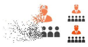 Docteur tramé en mouvement Class Icon de Pixelated illustration libre de droits