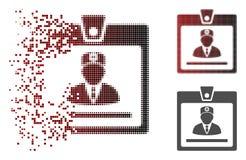 Docteur tramé pointillé de désintégration Badge Icon illustration libre de droits