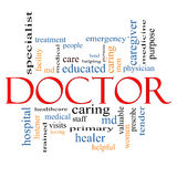 Docteur Word Cloud Concept Photos stock