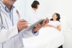 Doctor�s recept Arkivbilder