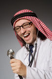 Doctor árabe divertido imagen de archivo libre de regalías