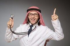 Doctor árabe divertido imágenes de archivo libres de regalías