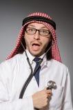 Doctor árabe divertido fotos de archivo libres de regalías