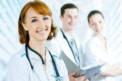 Doctor. A team of experienced highly qualified doctors Royalty Free Stock Image