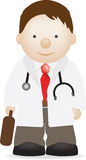 Doctor. Illustration of a cheerful modern doctor character Stock Images
