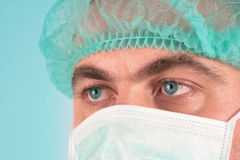 Doctor. Blue-eyed doctor close-up image Stock Photography