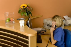 Doctor. A woman in a medical practise Stock Image