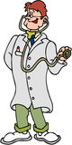 Doctor. Cartoon artwork line-art Royalty Free Stock Images
