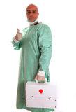 Doctor. A doctor holding a first aids suitcase Royalty Free Stock Image