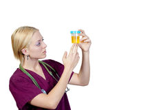 Doctor. A beautiful young female doctor on her rounds Royalty Free Stock Images