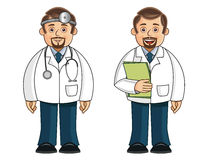 A doctor in 2 different poses Stock Photography