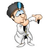Doctor. High detailed and coloured illustration Royalty Free Stock Photos
