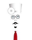 Doctor. With glasses and hat with a red tie on a white background Royalty Free Stock Images