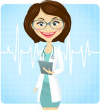 Doctor. Young female doctor with stethoscope Royalty Free Stock Images
