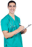 Doctor. A doctor a over white back ground Royalty Free Stock Photos