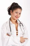 Doctor. An attractive young female doctor with stethoscope stock photo
