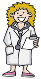 Doctor. Female Doctor with Clip Board Stock Image