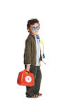 Doctor adorable del niño Imagenes de archivo