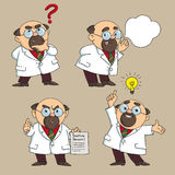 Doctor advises. Cartoon. The doctor advises and warns vector illustration