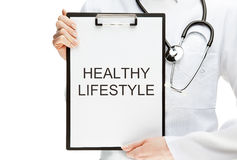 Doctor advising healthy lifestyle Royalty Free Stock Photo