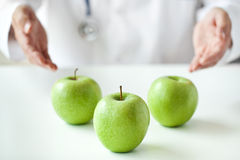 Doctor Is Advising To Eat Fruits Royalty Free Stock Photos