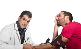 The doctor is amazed Stock Photo