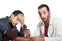 The doctor is amazed Royalty Free Stock Images