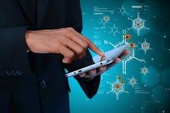Doctor analysing the virus. Digital illustration of  doctor analysing the virus Stock Image