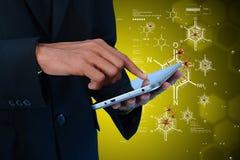 Doctor analysing the virus. Digital illustration of  doctor analysing the virus Royalty Free Stock Photo