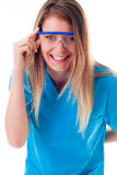 Doctor after analysis reaction Royalty Free Stock Photos