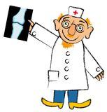The Doctor Analyzing X-Ray Stock Photo