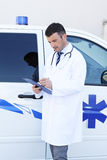 Doctor And Ambulance Royalty Free Stock Image