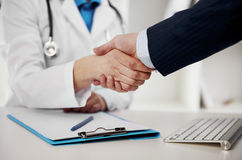 Free Doctor And Businessman Stock Photography - 85818502