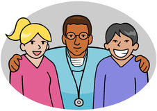Doctor And Nurses Royalty Free Stock Photography